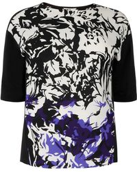 Windsmoor - Printed Mixed Media Top - Lyst
