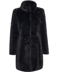 Pied a Terre   Mia Faux Fur Coat   Lyst