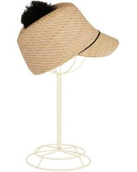 BCBGMAXAZRIA Raffia Cloche Hat - Lyst