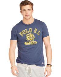 Polo Ralph Lauren Blue Tiger-Print T-Shirt - Lyst