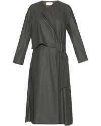 Lemaire Wool-felt Wrap Dress - Grey