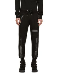 99% Is - Black Zippered Lounge Pants - Lyst