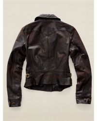 RRL | Leather Motorcycle Jacket | Lyst