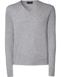 Iris Von Arnim Sweater August gray - Lyst