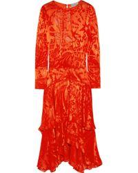 Preen Naboo Cutout Devoré Satin Dress - Lyst