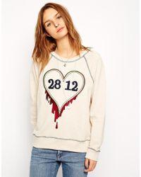 Twenty8Twelve Pix Embroidered Sweat Top - Lyst