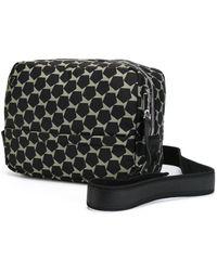 Z Zegna Geometric Print Shoulder Bag - Black