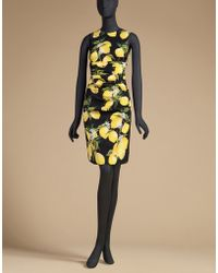 Dolce & Gabbana | Sheath Dress In Printed Silk | Lyst