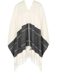 By Malene Birger Sinadis Fringed Wool Poncho - Lyst