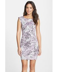 French Connection 'Flight Of Fancy' Print Cotton Sheath Dress - Lyst
