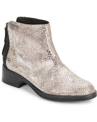 Gentle Souls Pod Pie Snake-Embossed Leather Ankle Boots - Lyst