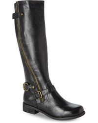 Steve Madden Black Synicle Riding Boots - Lyst