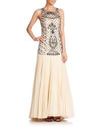 Sue Wong | Beaded Drop-waist Gown | Lyst