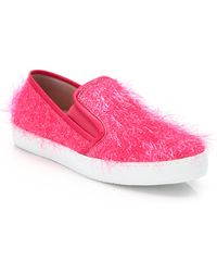 Boutique Moschino Tinsel-coated Skate Shoes - Pink