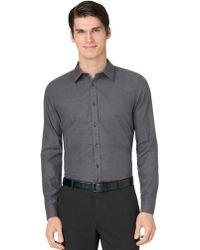 Calvin Klein Slim Fit Premium Micro Dobby Sport Shirt - Lyst