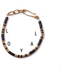 Lulu Frost G. Frost Morse Bracelet - Loyal gold - Lyst