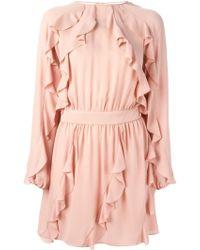 Valentino Ruffled Mini Dress - Lyst