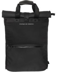 Porsche Design | Water Resistant Nylon & Leather Backpack | Lyst