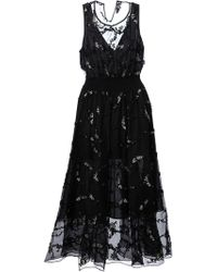 Theory Embroidered Dress - Lyst