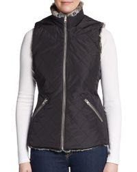 Bagatelle Faux Fur-Lined Knit Vest - Lyst