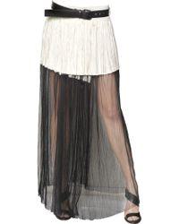Haider Ackermann Silk Mesh Pleated Viscose Skirt - Lyst