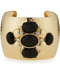R.j. Graziano - Crystal & Cabochon Cuff Bracelet - Lyst