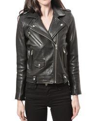IRO Zayone Leather Jacket - Lyst