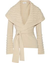 Temperley London Beige Wool Cardigan - Lyst