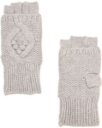 Exclusive For Intermix - Popcorn/cable Stitch Fingerless Gloves - Lyst