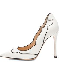 Gianvito Rossi Leather Western Leather Pumps - Lyst
