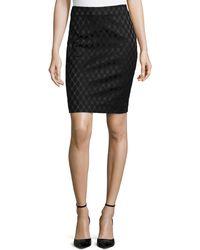 Diane Von Furstenberg Emma Diamond Pencil Skirt - Lyst
