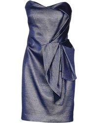 Marchesa Short Dress - Lyst
