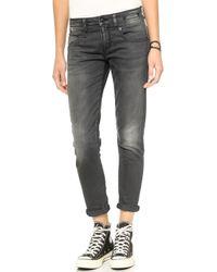 R13 Boy Skinny Jeans  Slate Grey Vintage - Lyst