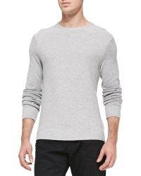 Vince Textured Knit Sweater - Lyst
