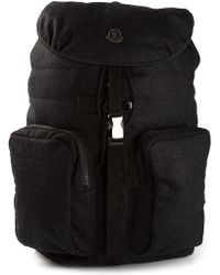 Moncler Gray Padded Backpack - Lyst