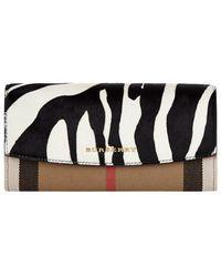Burberry - Porter Zebra Print Continental Wallet - Lyst