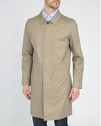 Selected Camel Trench Coat - Lyst