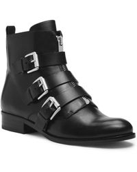 Michael Kors Anya Leather Ankle Boot - Lyst