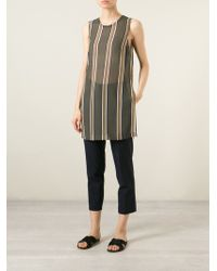 Theory Striped Sheer Top - Lyst
