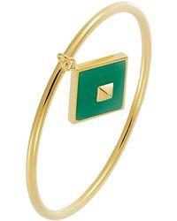 Trina Turk Bangle Bracelet With Charm - Lyst