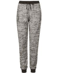 Topshop Tall Salt And Pepper Joggers - Lyst