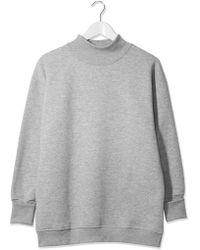 Topshop | Funnel Neck Sweatshirt By Boutique | Lyst
