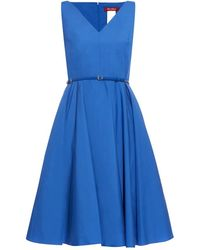 Max Mara Studio Asiago Dress blue - Lyst