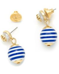 Tory Burch Saher Logo Drop Earring - Lyst