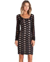 BCBGMAXAZRIA Tanya Long Sleeve Mini Dress - Lyst
