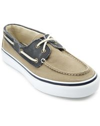 Sperry Top-Sider Bahama Canvas Khaki And Navy Wash Sneakers khaki - Lyst