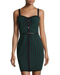 M Missoni Mixed-Print Sleeveless Belted Dress - Lyst