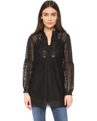 Anna Sui | Geometric Lace Tunic - Black Multi | Lyst