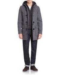 Guess Wool Blend Toggle Coat - Gray