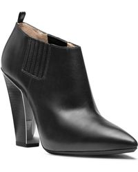 Michael Kors Lacy Leather Ankle Boot - Lyst